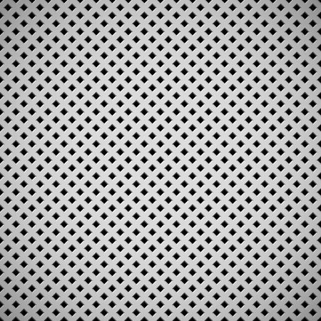 White abstract technology background with square perforated speaker grill texture for web sites, user interfaces, UI, applications, apps and business presentations. Vector illustration.