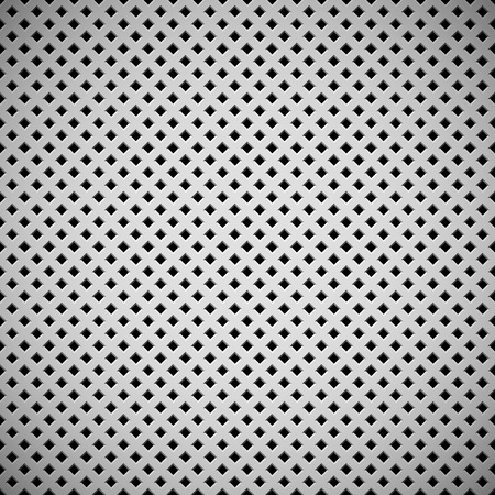 White abstract technology background with seamless square perforated speaker grill texture for web, user interfaces, UI, applications, apps, business presentations and prints. Vector illustration. Vector