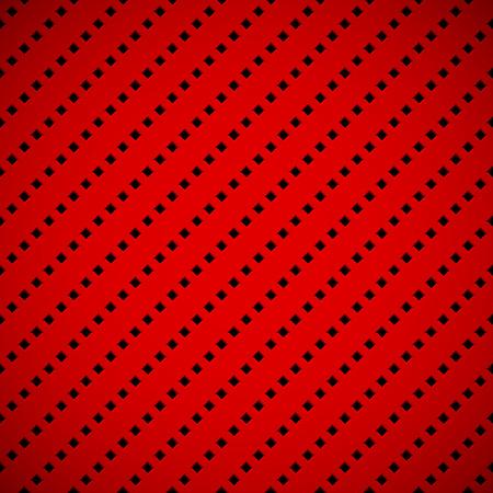carmine: Fondo rojo abstracto con la tecnolog�a seamless cuadrado perforado textura rejilla del altavoz para web, interfaces de usuario, interfaz de usuario, aplicaciones, aplicaciones, presentaciones de negocios y el grabado. Ilustraci�n del vector.