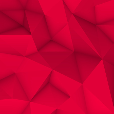 occlusion: Magenta abstract low-poly, polygonal triangular mosaic background for web, presentations and prints. Vector illustration. Realistic 3D design template.