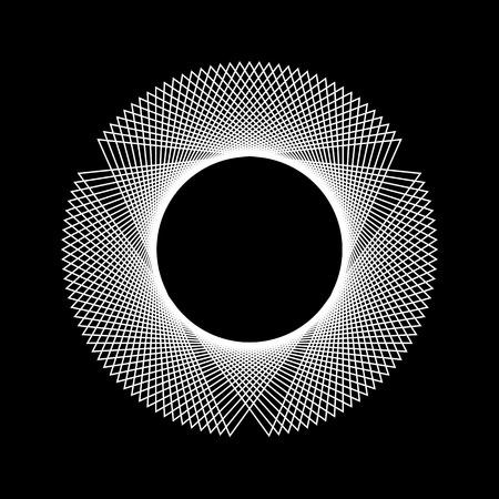 forme: Blanc forme fractale abstraite avec un fond noir pour le logo, les concepts de design, web, gravures, affiches. Vector illustration.