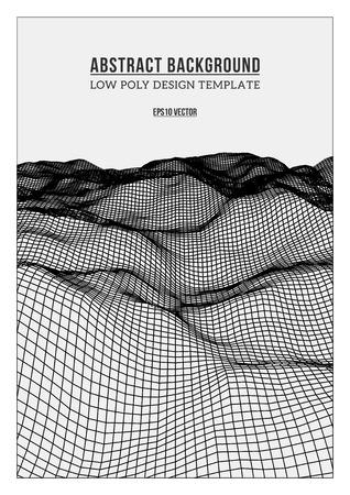 Blanco abstracta bajo poli, poligonal fondo triangular elevaci�n mosaico para web, presentaciones y grabados. Ilustraci�n del vector. Realista 3D render plantilla de dise�o.