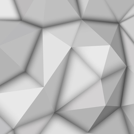 occlusion: White abstract low-poly, polygonal triangular mosaic background for design concepts, posters, banners, web, presentations and prints. Vector illustration. Realistic 3D render design template Illustration