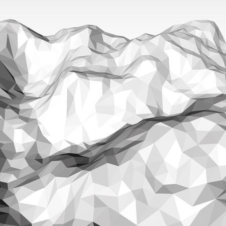 デザイン コンセプト、ポスター、バナー、web、プレゼンテーションとポスターの白い抽象低ポリ、多角形三角形モザイク標高背景。ベクトルの図。