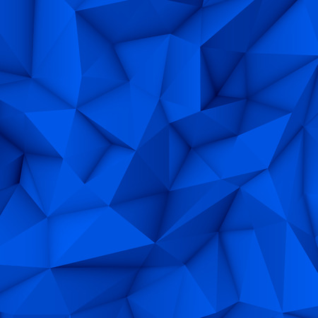 ambience: Blue abstract low-poly, polygonal triangular mosaic background for web, presentations and prints. Vector illustration. Realistic 3D design template. Illustration