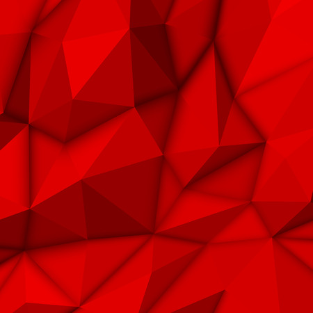 red abstract background: Red abstract background with low-poly, polygonal triangular landscape for web, presentations and prints. Vector illustration. Realistic 3D design template.