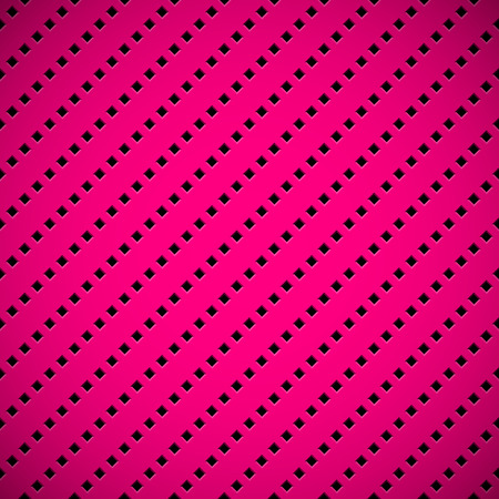 Magenta abstract technology background with seamless square perforated speaker grill texture for web, user interfaces, UI, applications, apps, business presentations and prints. Vector illustration.