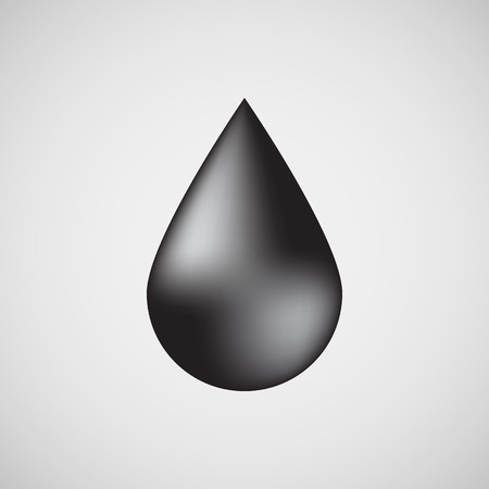 light reflex: Black oil drop, bubble badge, realistic icon template with reflex and light background for design concepts, internet sites, UI, applications, apps, presentations and prints. Vector illustration. Illustration