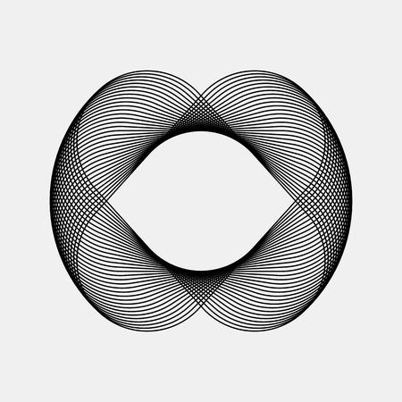 fractal: Black abstract fractal shape with light background