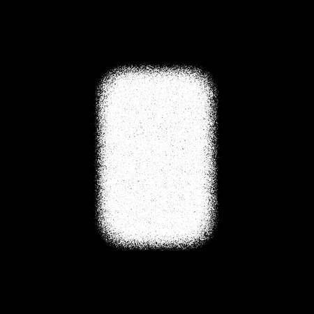 White Abstract Geometric Shape, Rectangle Badge With Film