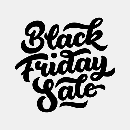 sale sticker: Black Friday Sale handmade lettering