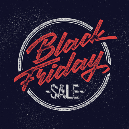 Black Friday Sale handmade vintage lettering