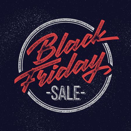 Black Friday Sale handmade vintage lettering