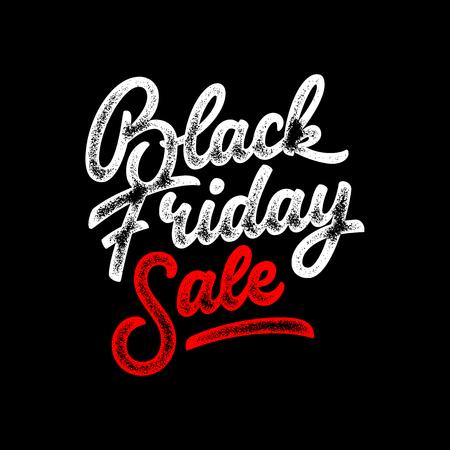 Black Friday Sale handgemaakte belettering Stock Illustratie