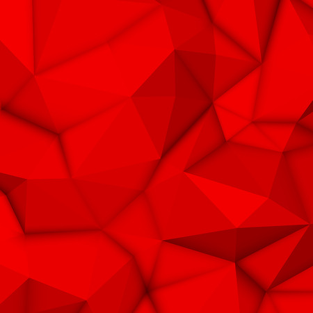 occlusion: Red abstract low-poly, polygonal triangular mosaic background for design concepts, posters, banners, web, presentations and prints. Vector illustration. Realistic 3D render design template.