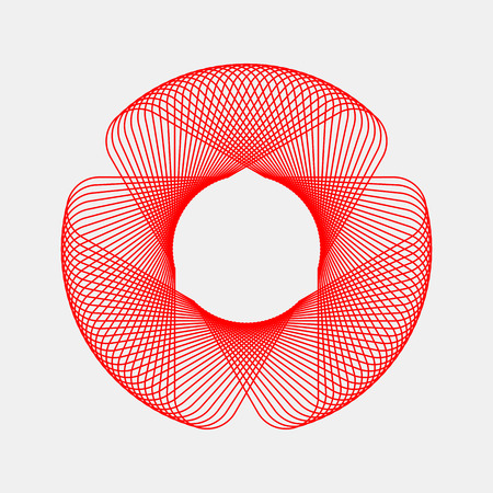 14th: Red abstract fractal shape with light background for logo, design concepts, posters, banners, web, presentations and prints. Valentines day. Congratulations with 14th february. Vector illustration.