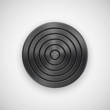 Black Abstract circle geometric badge Illustration