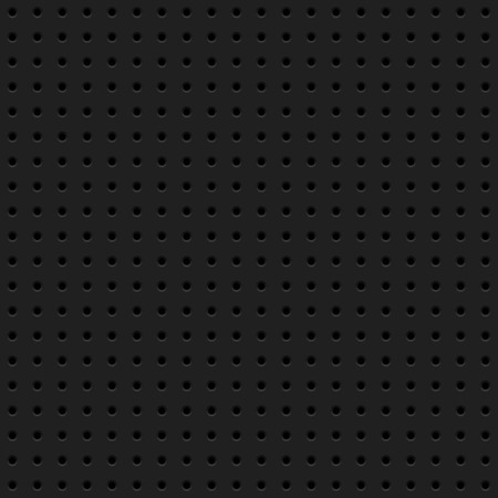 perforated: Black abstract technology background with seamless circle perforated pattern, speaker grill texture for design concepts, wallpapers, web, presentations, interfaces and prints. Vector illustration.