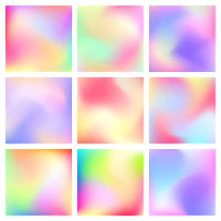 deign: Abstract blur gradient backgrounds set with trend pastel pink, purple, violet, orange, green and blue colors for deign concepts, wallpapers, business presentations, web and prints. Vector illustration
