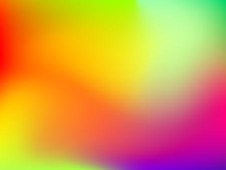 Abstract sfocatura sfondo colorato gradiente con rosso, giallo, blu, ciano e verde per degnati concetti, sfondi per desktop, web, presentazioni e stampe. Illustrazione vettoriale. Vettoriali