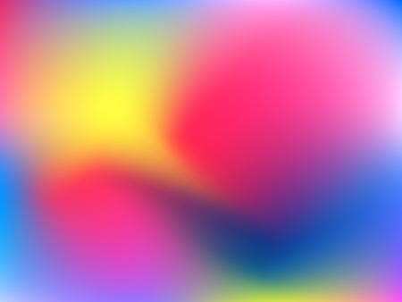 Abstract blur gradient background with trend pink, magenta, ultramarine, blue and yellow colors for deign concepts, wallpapers, web, presentations and prints. Vector illustration.