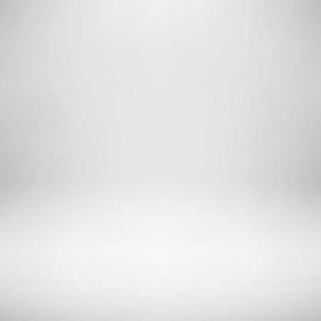 White empty photo studio backdrop background with realistic light for design concepts, presentations, posters, banners, web, wallpapers and prints. Vector illustration.