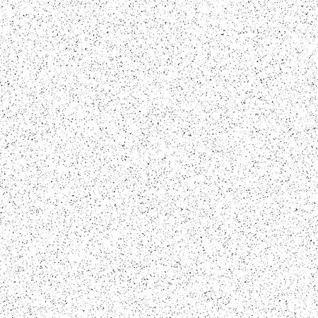 Sfondo bianco astratto con la grana della pellicola nera, rumore, dotwork, mezzitoni, grunge texture per i concetti di design, striscioni, manifesti, sfondi per desktop, web, presentazioni e stampe. Illustrazione vettoriale.