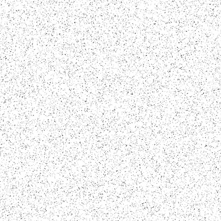 White abstract background with black film grain, noise, dotwork, halftone, grunge texture for design concepts, banners, posters, wallpapers, web, presentations and prints. Vector illustration.