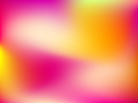 Abstract horizontal blur gradient background with trend pastel pink, purple, violet and yellow colors for deign concepts, wallpapers, web, presentations, prints. Album orientation. Vector illustration Illustration