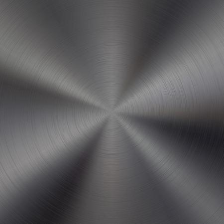 polished: Black metal technology background with polished