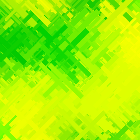 green and yellow glitch background, distortion effect, abstract texture, random diagonal lines for design concepts, posters, wallpapers, presentations and prints. Vector illustration.