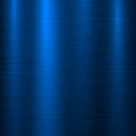 Blue metal technology background with abstract polished, brushed texture, silver, steel, aluminum for design concepts, web, prints, posters, wallpapers, interfaces. Vector illustration. Stock Illustratie