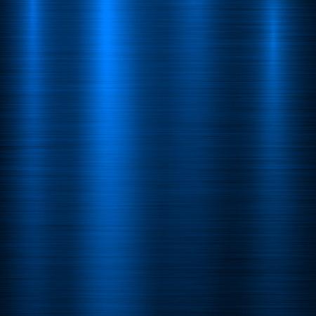 Niebieskie tło technologii metalowej z abstrakcyjną polerowaną, szczotkowaną teksturą, srebrem, stalą, aluminium do koncepcji projektowych, stron internetowych, wydruków, plakatów, tapet, interfejsów. Ilustracji wektorowych.