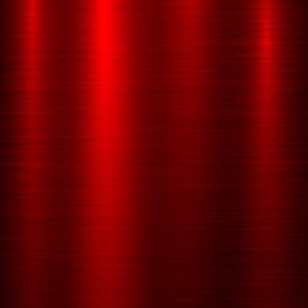 Red Metall abstrakte Technologie Hintergrund mit poliert, gebürstet Textur, Silber, Stahl, Aluminium für Design-Konzepte, Web, Drucke, Plakate, Tapeten, Schnittstellen. Vektor-Illustration. Vektorgrafik