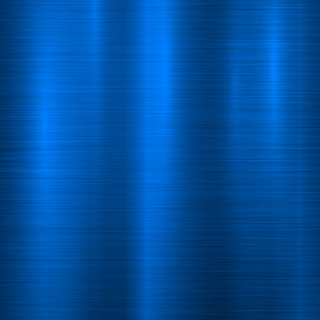 Blue metal technology background with abstract polished, brushed texture, chrome, silver, steel, aluminum for design concepts, web, prints, posters, wallpapers, interfaces. Vector illustration.