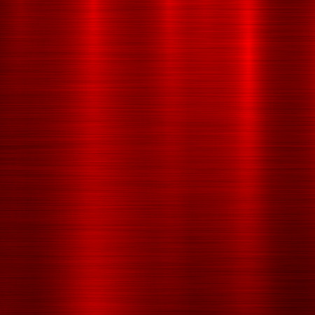 Red metal abstract technology background with polished, brushed texture, silver, steel, aluminum for design concepts, web, prints, posters, wallpapers, interfaces. Vector illustration.