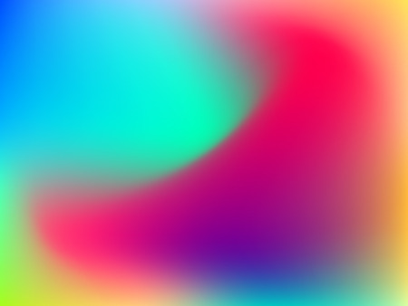 Abstract horizontal blur colorful gradient background with pink, red, yellow, emerald, blue, cyan and green colors for deign concepts, wallpapers, web, presentations and prints. Vector illustration. Illustration