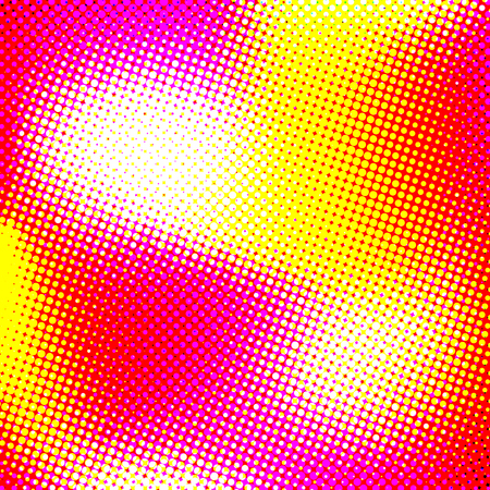 Color halftone texture, abstract gradient background with moire effect, circles pattern for design concepts, wallpapers, posters, web, presentations and prints. Vector illustration.