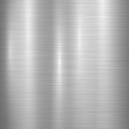 Metal abstract technology background with polished, brushed texture, chrome, silver, steel, aluminum for design concepts, web, prints, posters, wallpapers, interfaces. Vector illustration. Stock Illustratie