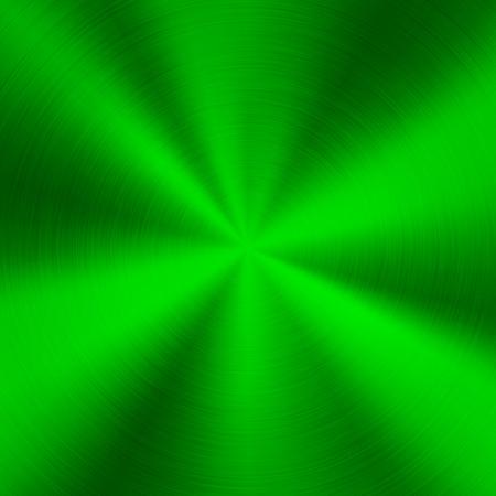 Fond de technologie de métal vert avec abstraite poli, brossé circulaire concentrique texture, chrome, argent, acier, pour les concepts de conception, web, affiches, fonds d'écran et impressions. Illustration vectorielle