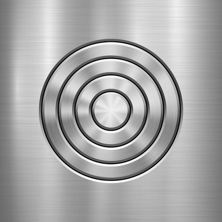 polished: Metal abstract technology background with circle for and polished.