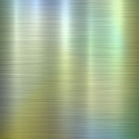 Metal abstract green colorful gradient technology background with polished, brushed texture,  chrome, silver, steel, aluminum for design concepts, web, prints, wallpapers. Vector illustration. Ilustrace