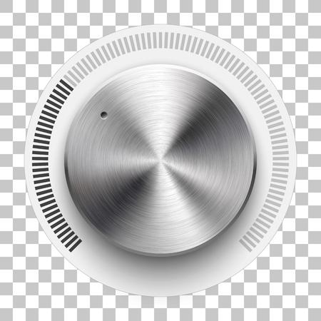 Knoflík pro hlasitost zvuku, šablona šablony hudby pro technologii. Ilustrace