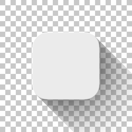 White icon, blank button template. Ilustrace