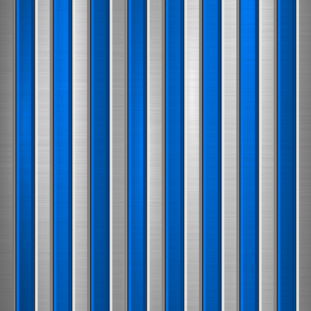 Kovové technologické pozadí s leštěnou, kartáčovanou strukturou, chrom, stříbro, ocel, hliník a vertikální úkosy pro designové koncepty, web, tisky, tapety, rozhraní. Vektorové ilustrace.