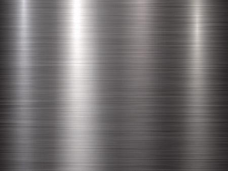Kovové horizontální abstraktní technologické pozadí s leštěnou, kartáčovanou texturu, chrom, stříbro, ocel, hliník pro koncepty návrhu, web, tisky, plakáty, tapety, rozhraní. Vektorové ilustrace. Ilustrace