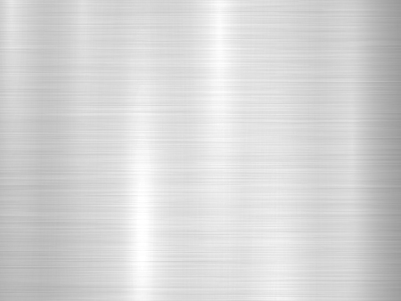 Metal horizontal abstract technology background with polished, brushed texture, chrome, silver, steel, aluminum for design concepts, web, prints, posters, wallpapers, interfaces. Vector illustration.