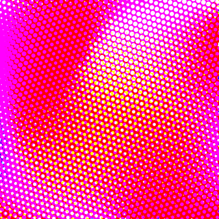 Barevná polotónová polotónka s moire efekt.