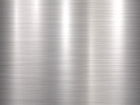 Metal horizontal abstract technology background with polished, brushed texture, chrome, silver, steel, aluminum for design concepts, web, prints, posters and wallpapers. Vector illustration. Ilustrace