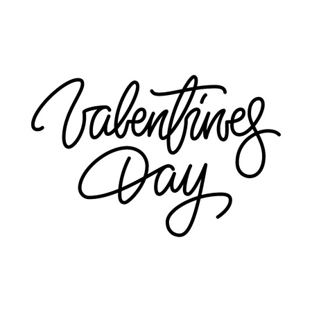 Valentines day, 14th february brushpen lettering, handwritten calligraphy for logo, design concepts, banners, badges, labels, postcards, invitations, prints, posters, web.